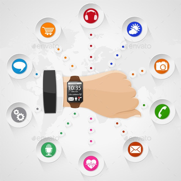 Smart Watch with Applications - Computers Technology
