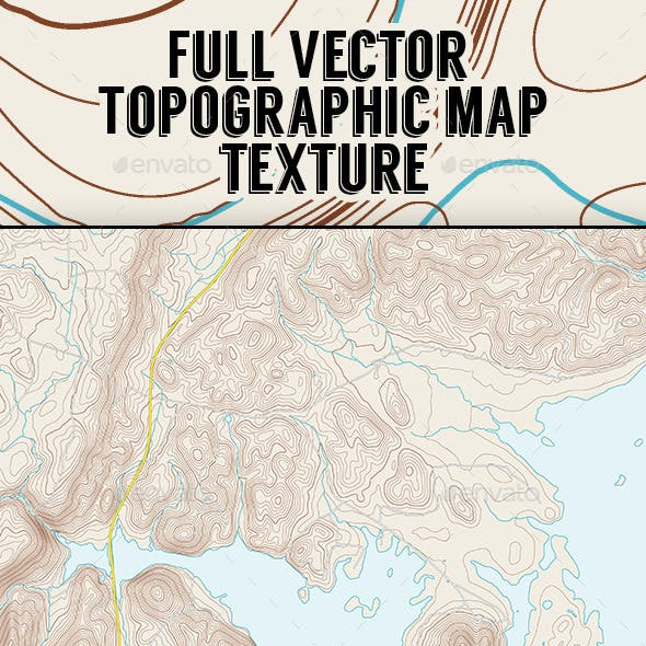 Vector Coastal Topographic Maps