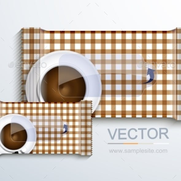 Vector Modern Packaging for Wet Wipes