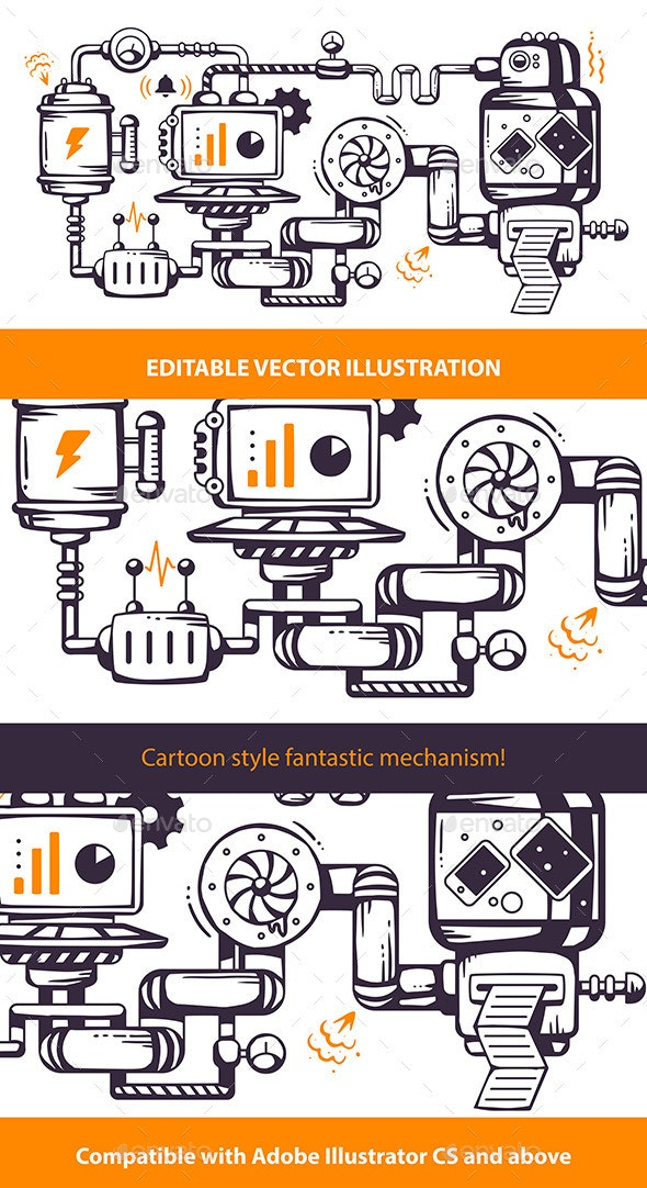 Print Industrial Operating Mechanism. - Man-made Objects Objects