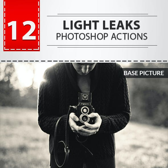 12 Light Leaks Photoshop Actions