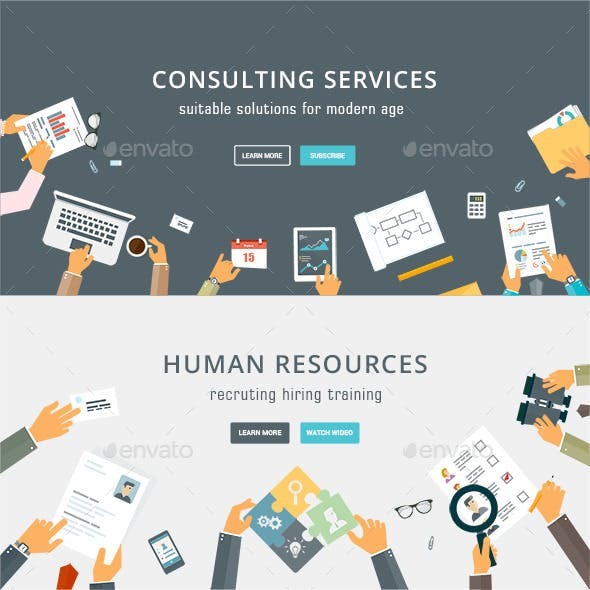 Business Services and Human Resources Concepts