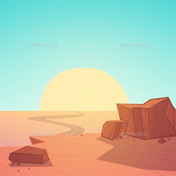 Desert Road - Landscapes Nature