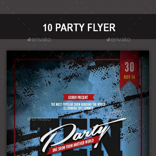 10 Party Flyer