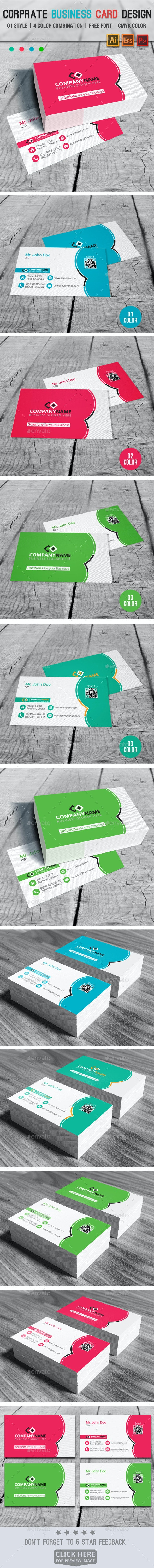 Corprate Business Card Design V03 - Corporate Business Cards