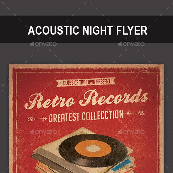 Retro Records Flyer