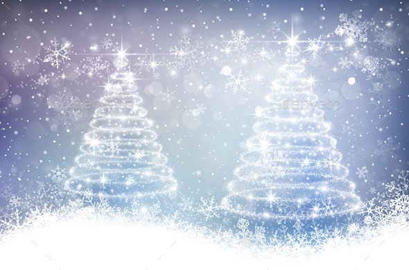 Magic Cchristmas Background - Christmas Seasons/Holidays
