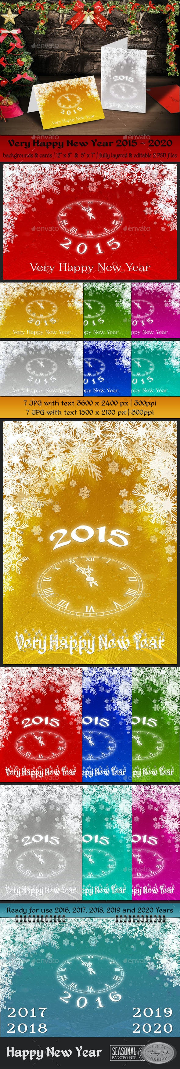 Very Happy New Year - Miscellaneous Backgrounds