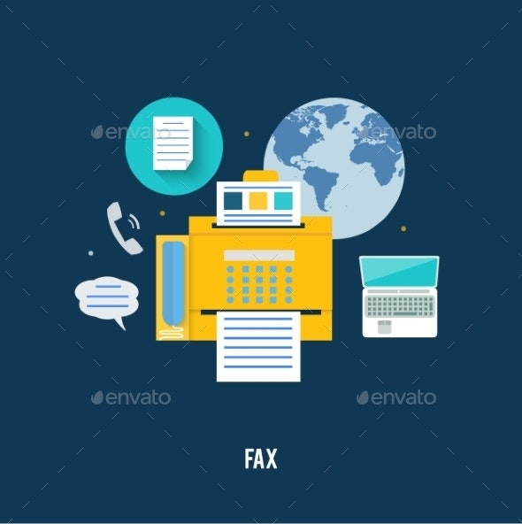 Fax with Map - Technology Conceptual