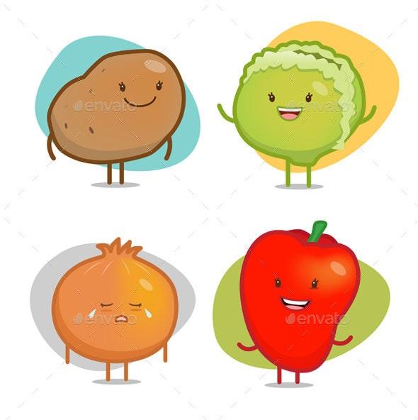 Vegetable Characters - Vectors