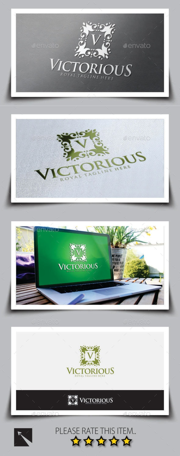 Victorious Logo Template - Crests Logo Templates