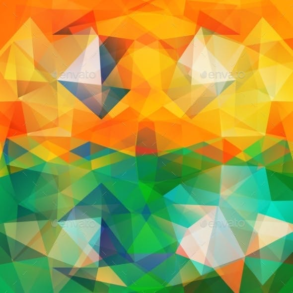 Triangle Background Colorful Polygons