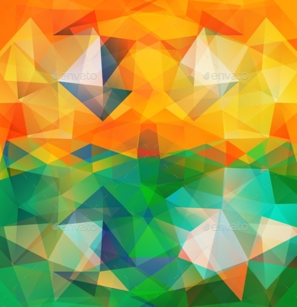 Triangle Background Colorful Polygons - Abstract Backgrounds