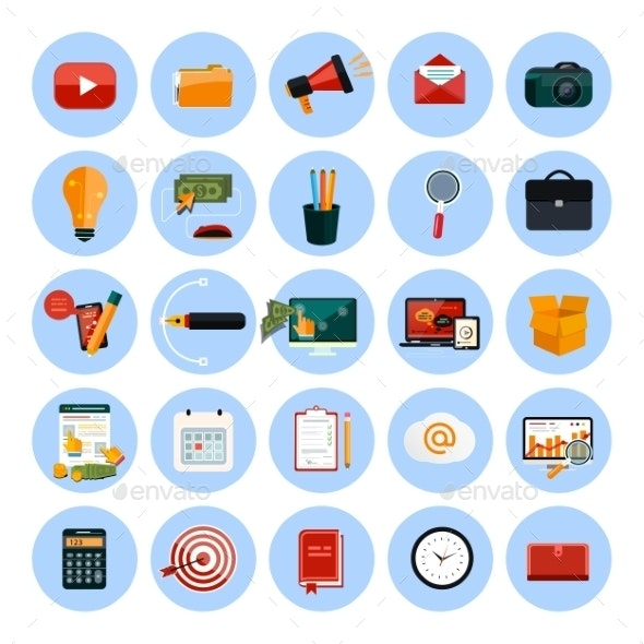 Business and Office Icons - Technology Conceptual