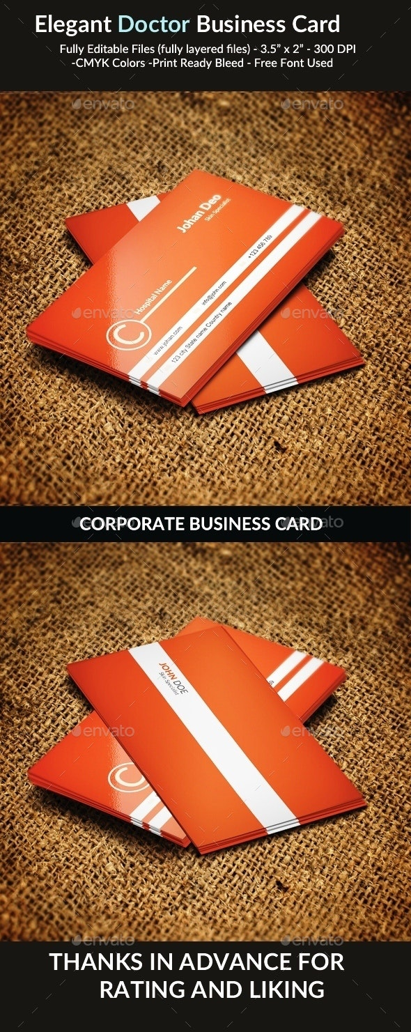 Elegant Doctor Business Card - Industry Specific Business Cards