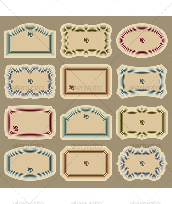 Blank labels set (vector) - Decorative Vectors