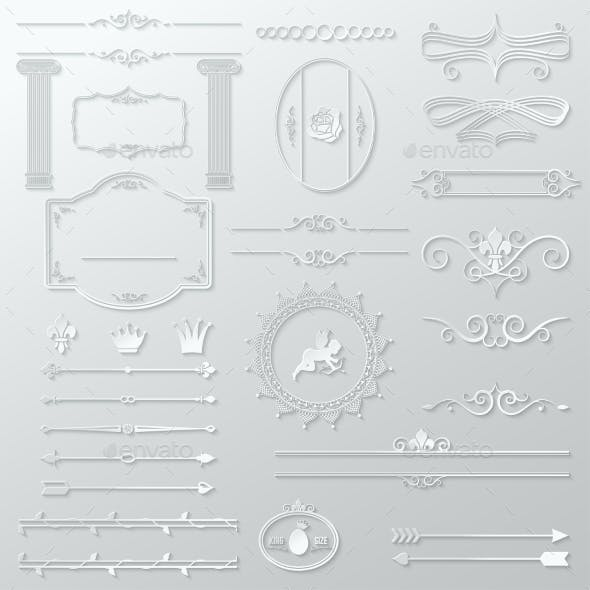 Ornate Design Elements Paper Set