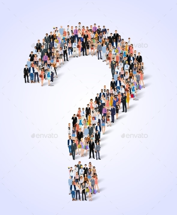 Group of People Question Poster - Concepts Business