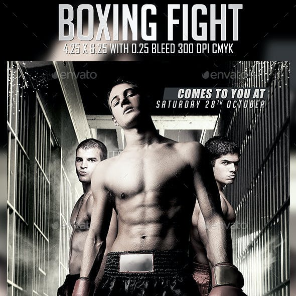 Boxing Fight Flyer Template