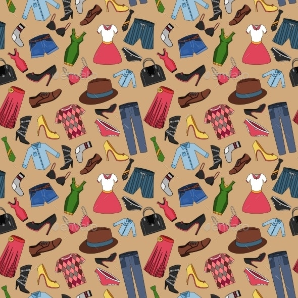 Clothes Seamless Pattern - Backgrounds Decorative