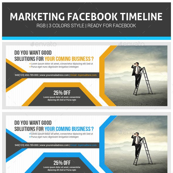 Corporate Business Facebook Timeline Psd