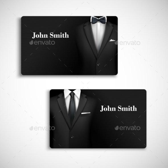 Businessman Suit Card Set - Concepts Business