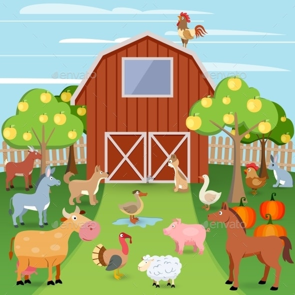 Farm with Animals - Animals Characters