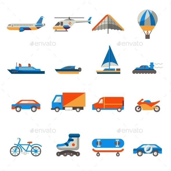 Transport Icons Set - Web Technology