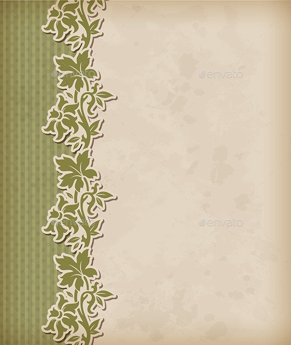 Vintage Background and Floral Ornament  - Backgrounds Decorative