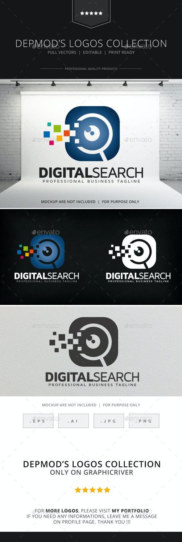 Digital Search Logo - Symbols Logo Templates