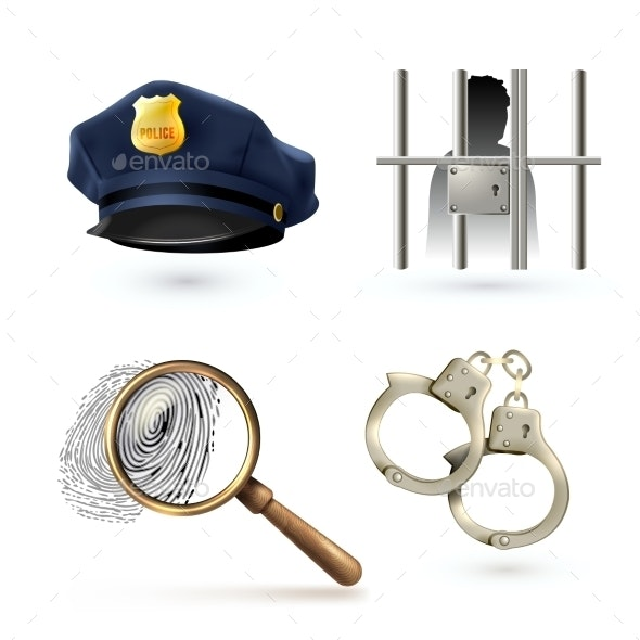 Law Icons Set - Miscellaneous Conceptual
