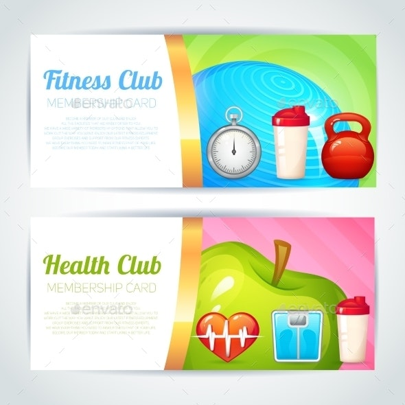 Fitness Club Card Design - Sports/Activity Conceptual
