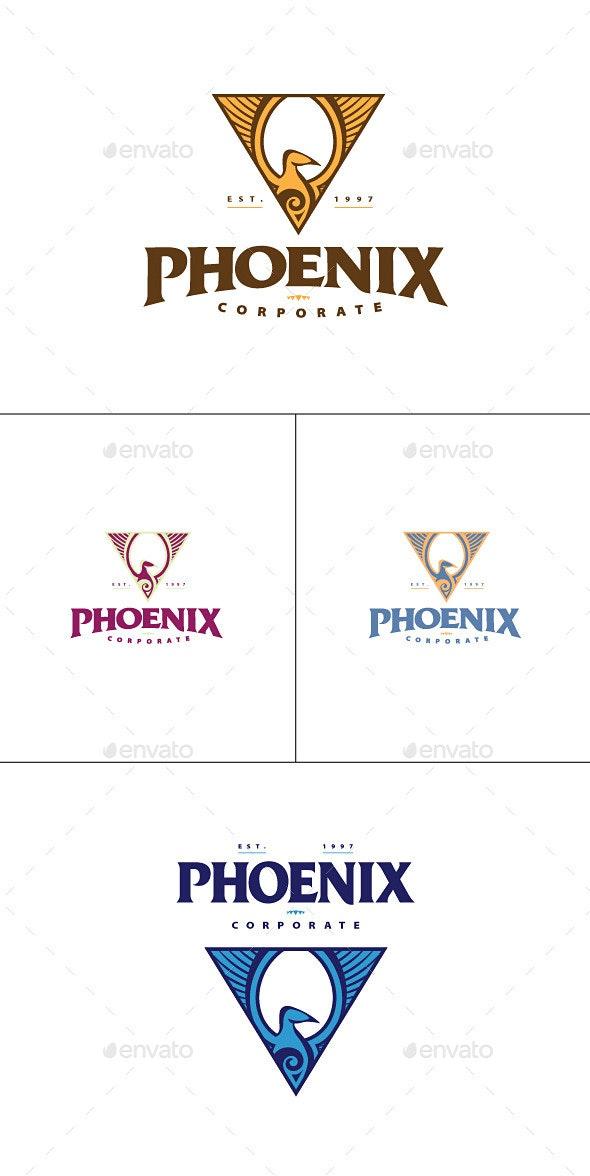 Phoenix Triangle Logo Template - Animals Logo Templates