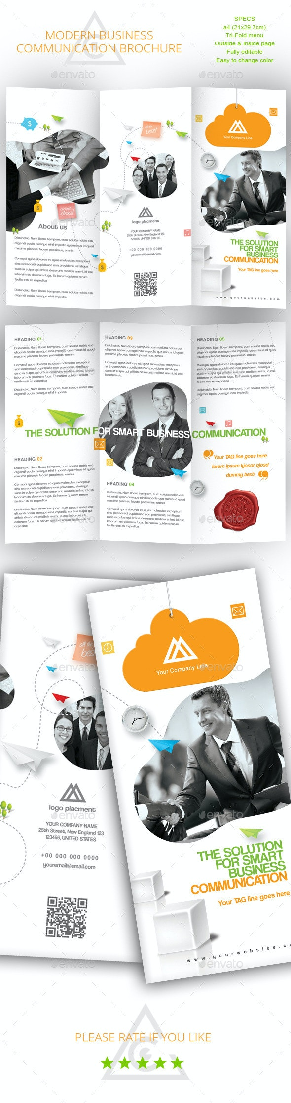 Tri-fold Brochure for Business Communication - Corporate Brochures