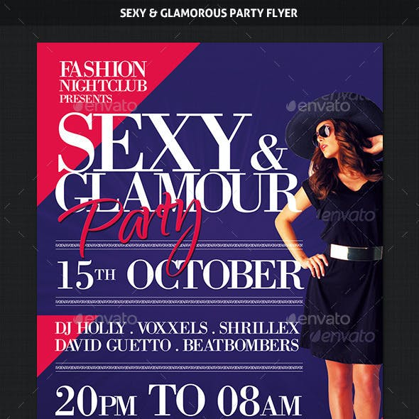 Sexy and Glamorous Party Flyer