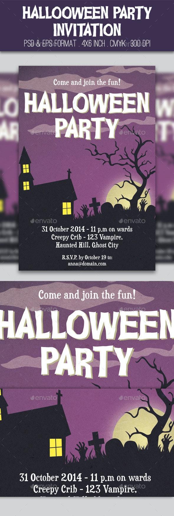 Halloween Party Invitation - Invitations Cards & Invites