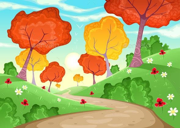 Landscape with Trees.  - Landscapes Nature