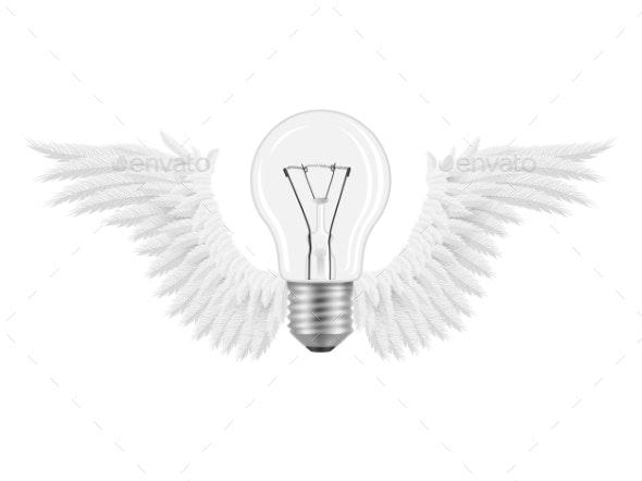Bulb Wings Idea - Conceptual Vectors
