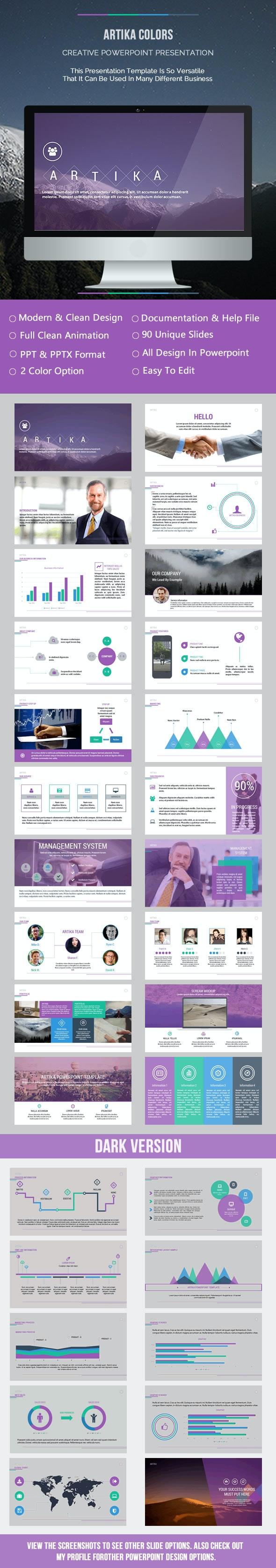 Artika Colors Presentation - Business PowerPoint Templates