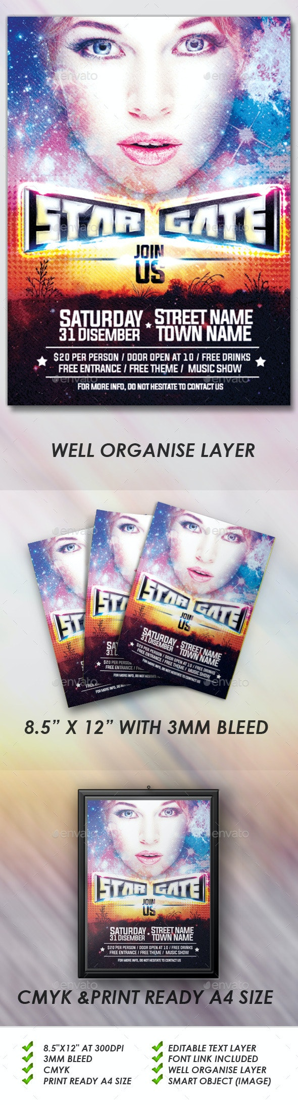 Star Gate Flyers - Events Flyers