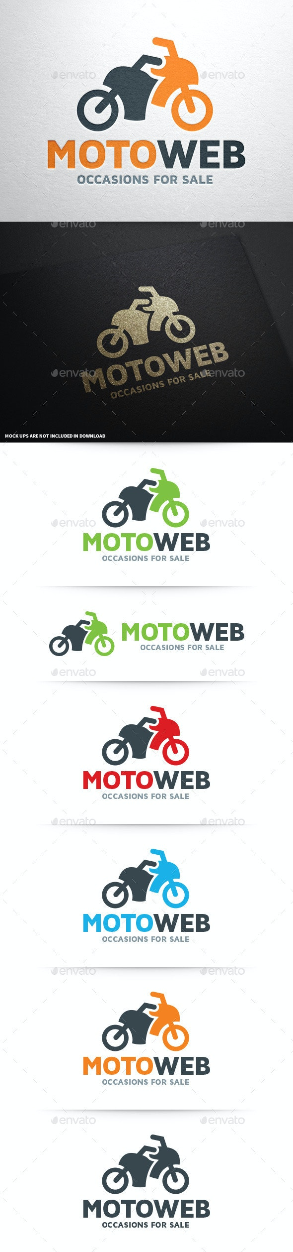 Moto Web Logo Template - Objects Logo Templates