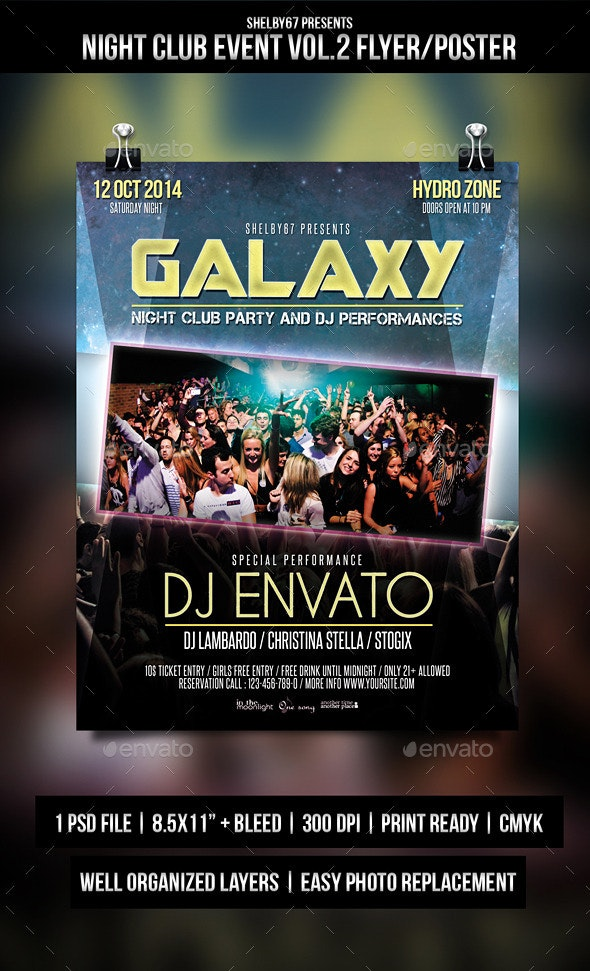Night Club Event Flyer / Poster Vol.2 - Events Flyers