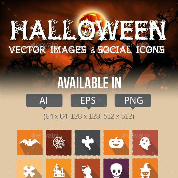 Halloween Social Media Icons Pack