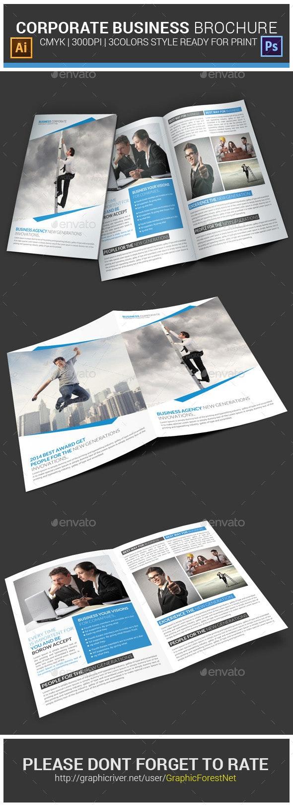 Corporate Business Brochure Psd Template - Corporate Brochures