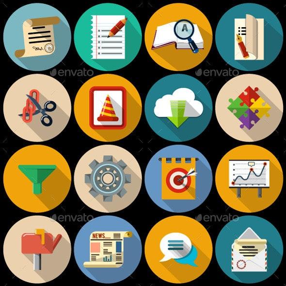 Set of Flat Icon - Web Icons