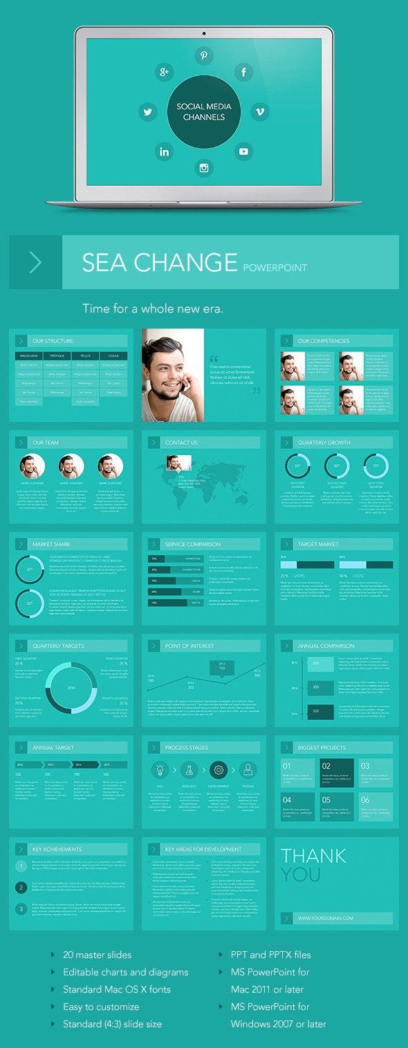 Sea Change PowerPoint Template - PowerPoint Templates Presentation Templates