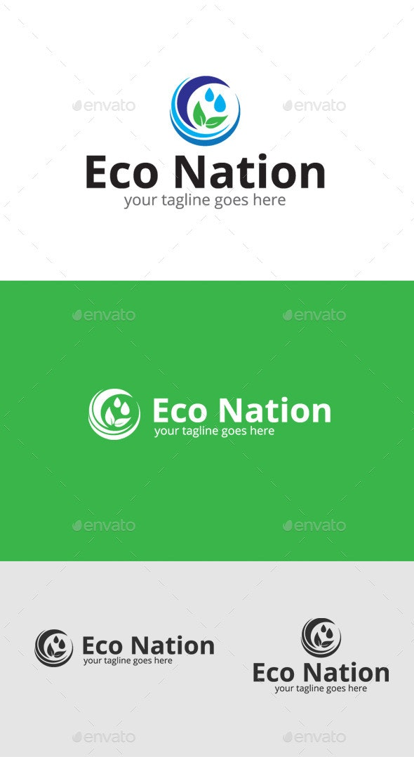 Eco Water Logo - Nature Logo Templates
