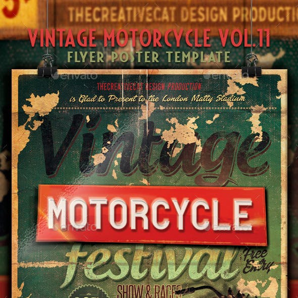 Vintage Motorcycle Flyer/Poster Vol. 11