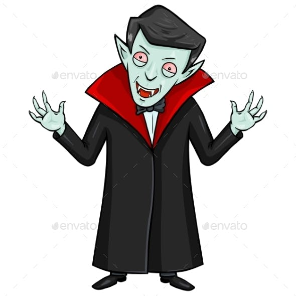 Halloween Character - Evil Attacking Vampire