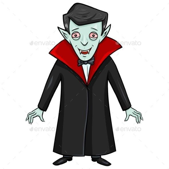 Halloween Character - Smiling Vampire